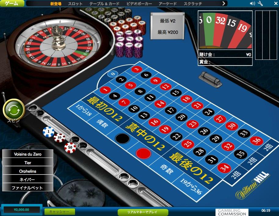 ウィリアムヒルカジノ 無料プレイ